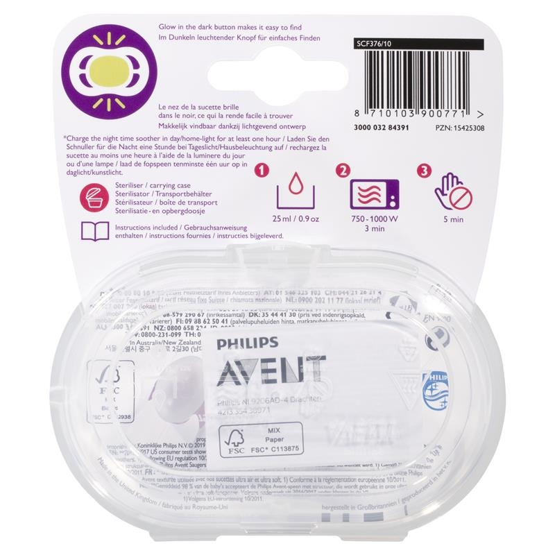 Avent Ultra Air Night Soother 0-6 Months 2 Pack