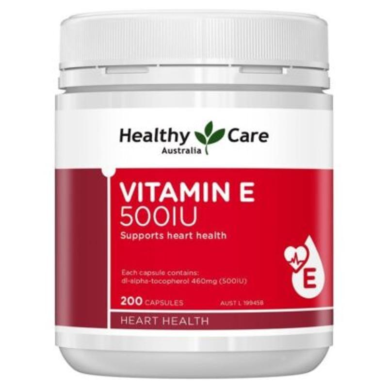 Healthy Care Vitamin E 500IU 200 Capsules
