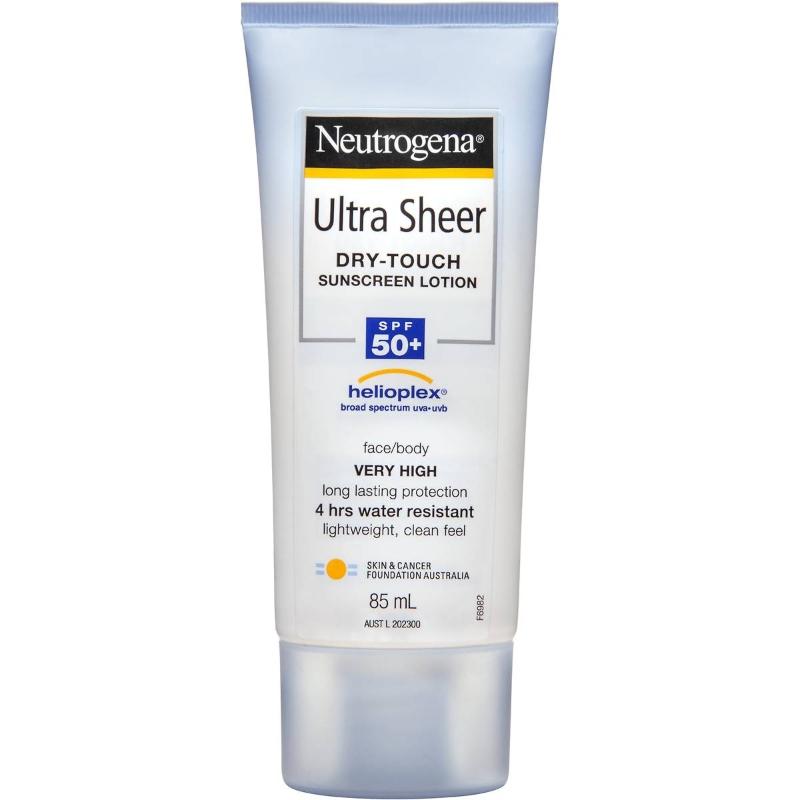 Kem chống nắng Neutrogena Spf 50+ Ultra Sheer Lotion 85ml