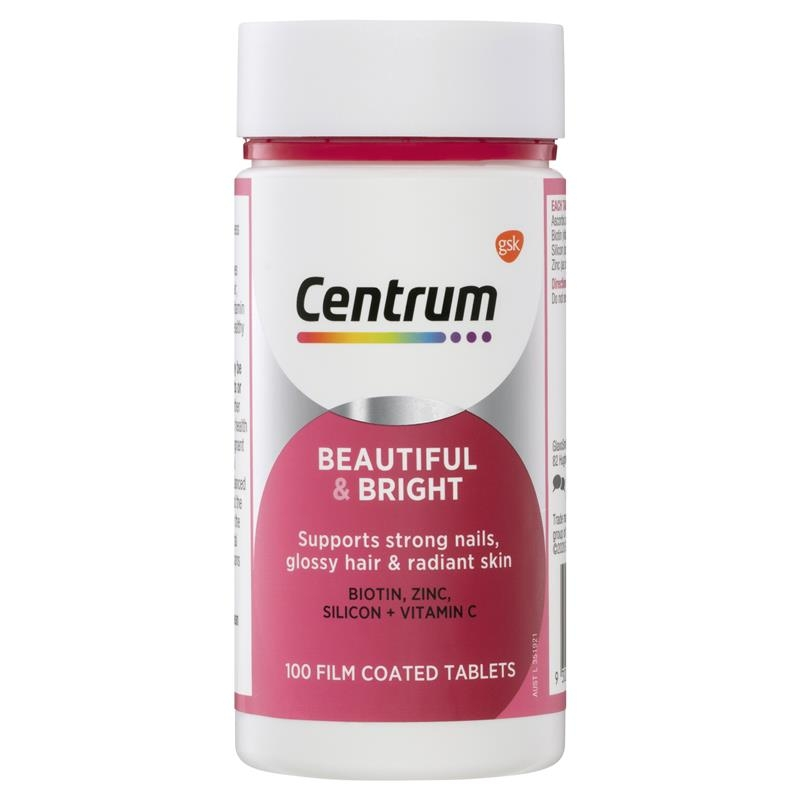 Vitamin tổng hợp Centrum Beautiful & Bright 100 Tablets