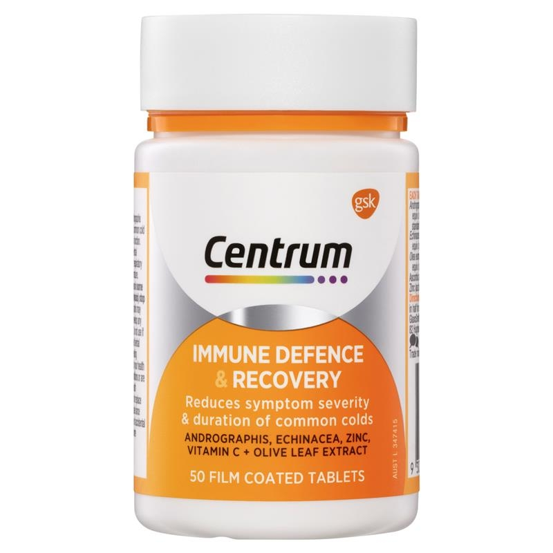 Vitamin tổng hợp Centrum Immune Defence & Recovery 50 Capsules