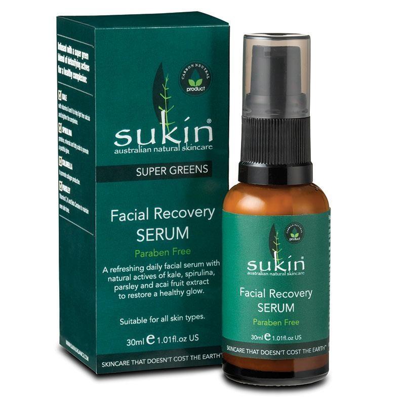 SUKIN Super Greens Facial Recovery Serum 30ml