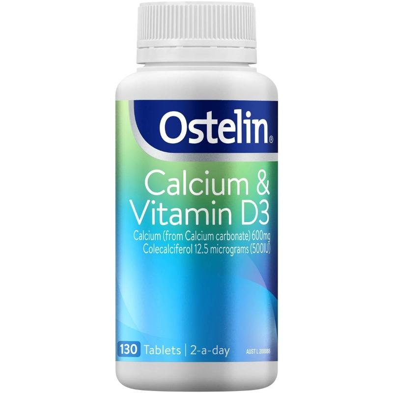 Ostelin Calcium & Vitamin D3 Tablets 130 Pack