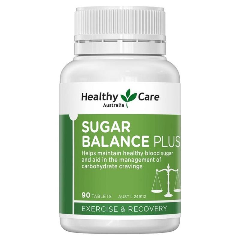 Viên uống cân bằng đường huyết Healthy Care Sugar Balance Plus Tab X 90