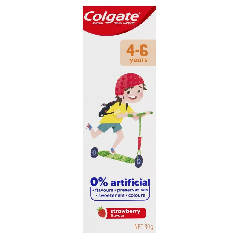 Colgate Kids Anticavity Fluoride Toothpaste 4-6 Years Strawberry Flavour 80g