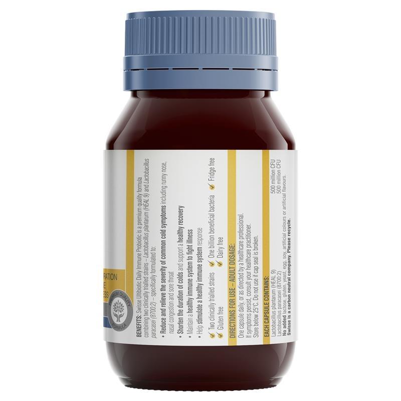 Swisse Ultibiotic Daily Immune Probiotic 30 Capsules