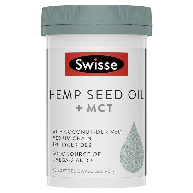 Swisse Hemp Seed Oil + MCT 60 Capsules