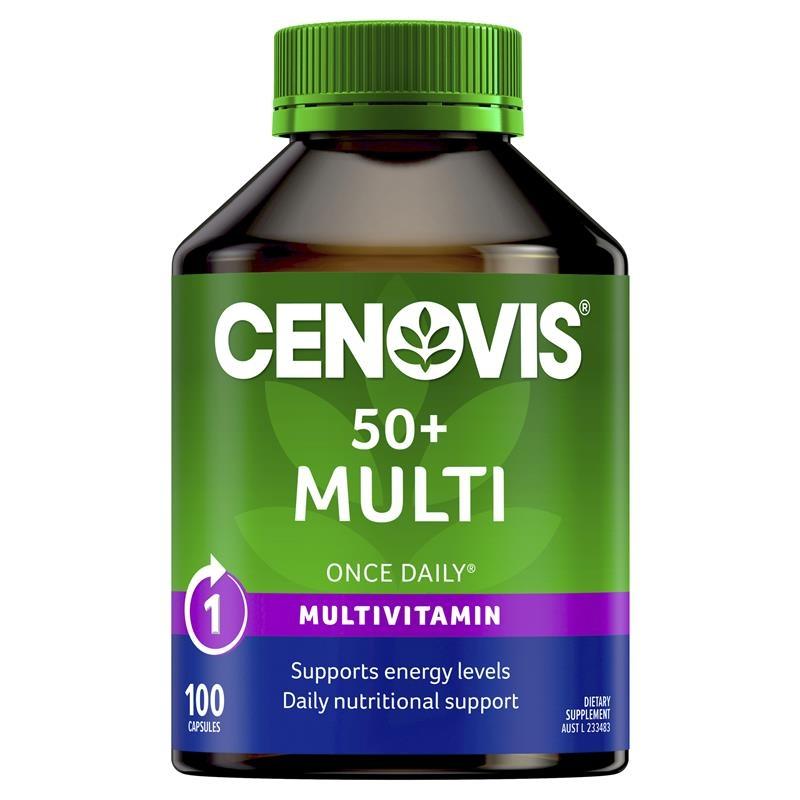 Vitamin tổng hợp cho phụ nữ trên 50 tuổi Cenovis 50+ Multi - Once-Daily Multivitamin - 100 Capsules
