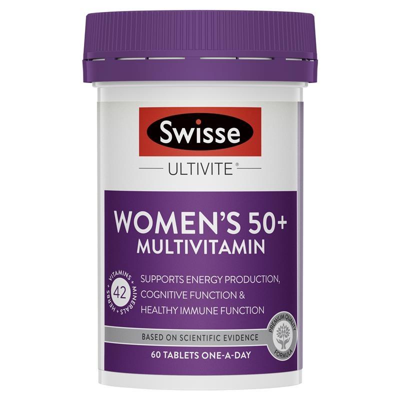 Vitamin tổng hợp cho phụ nữ trên 50 tuổi Swisse Women's Ultivite 50+ Multivitamin 60 Tablets