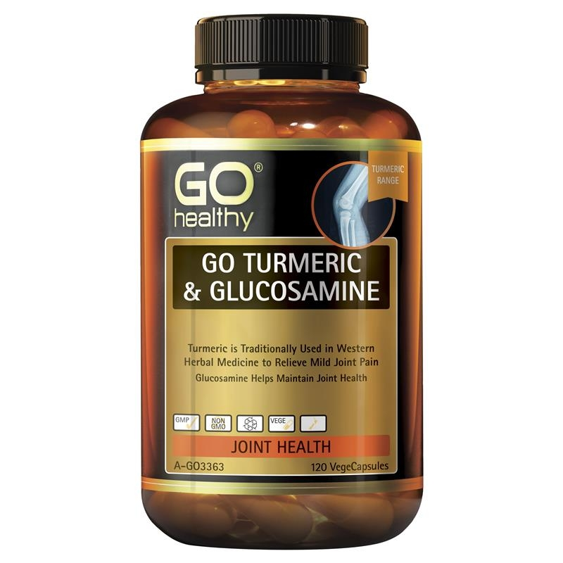 GO Healthy Turmeric & Glucosamine 120 Vege Capsules