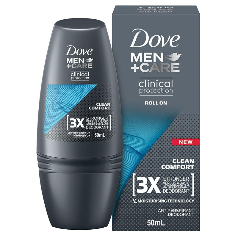 Dove for Men Clinical Protection Roll On Clean Comfort 50ml