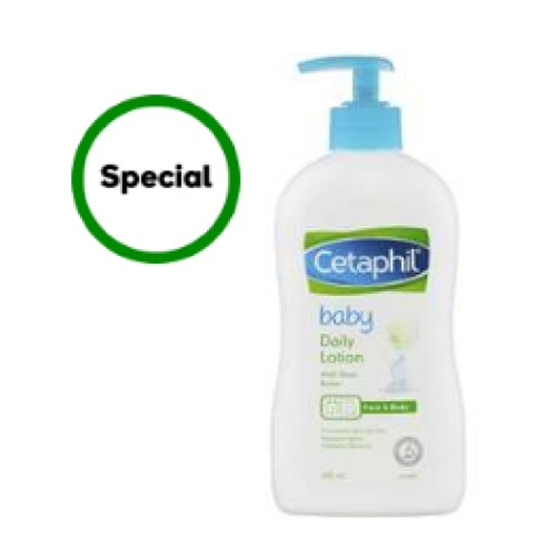 Cetaphil Baby Daily Lotion With Shea Butter Face & Body 400ml