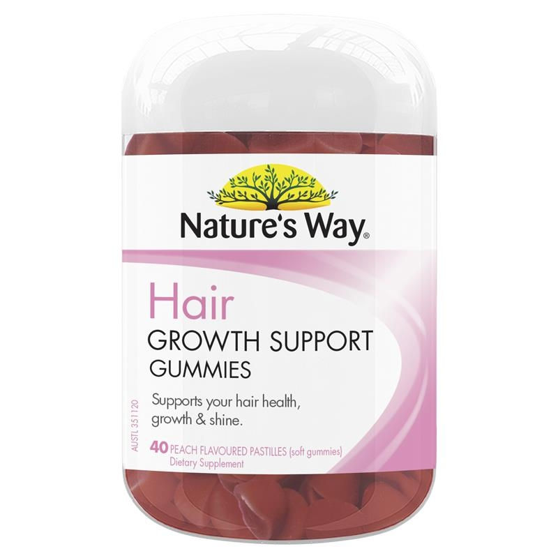 Nature's Way Hair Growth Support 40 Peach Flavoured Gummies