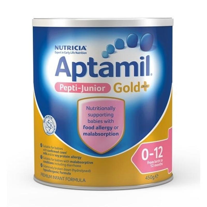 Aptamil Gold Plus Pepti-Junior Infant Formula (0-12 Months) 450g (LIMIT 2 CANS PER ORDER)