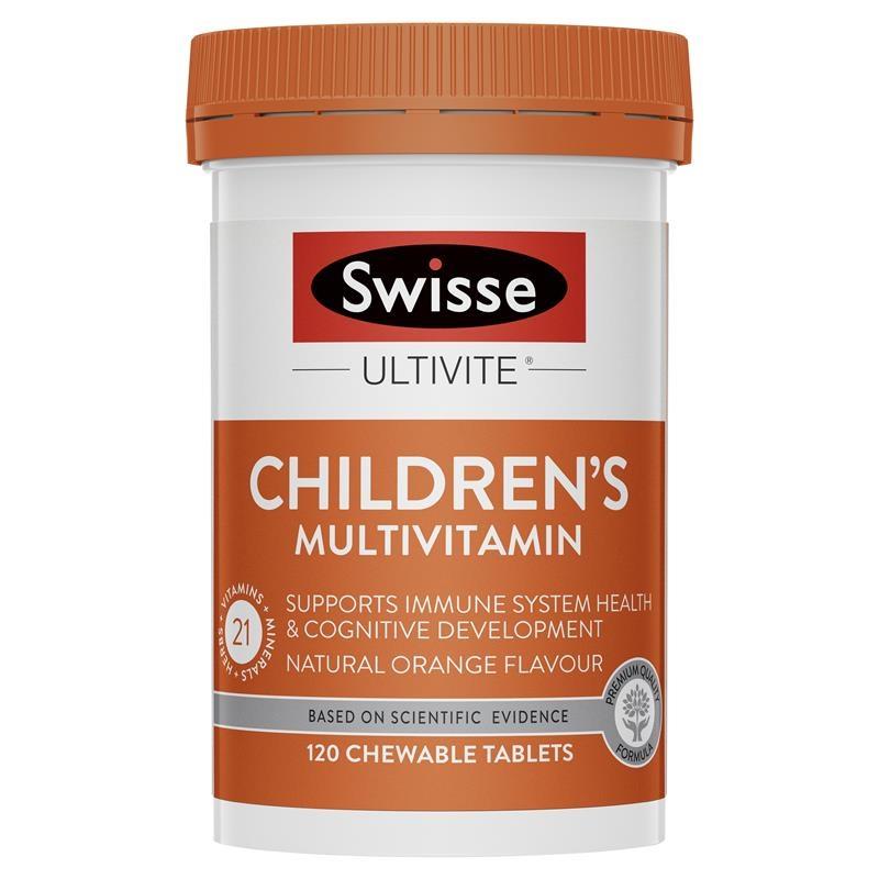 Swisse Children's Ultivite Multivitamin 120 Chewable Tablets