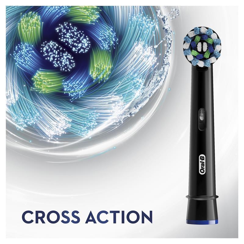 Oral B Cross Action Black Refills 2 Pack