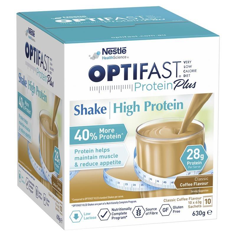 Optifast Protein Plus Shake Coffee 63g x 10 Sachets