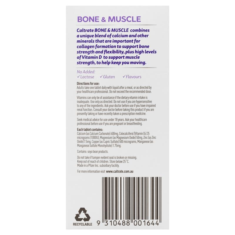 Caltrate Bone and Muscle 100 Tablets