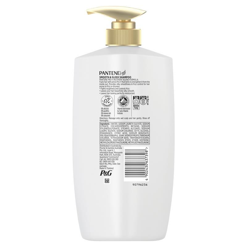 Pantene Smooth & Sleek Shampoo 900ml