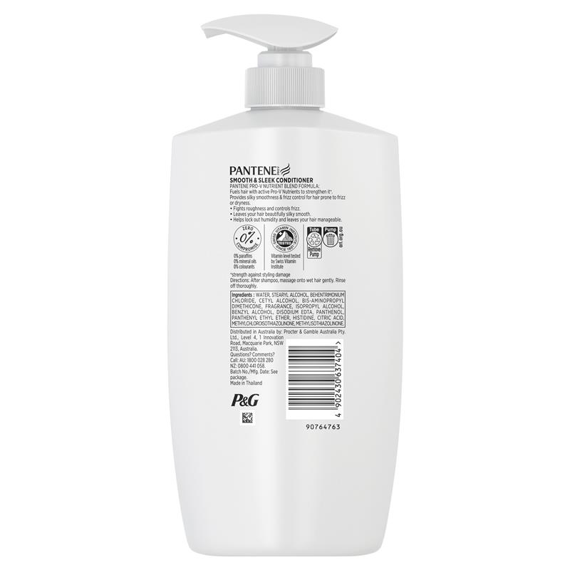 Pantene Smooth & Sleek Conditioner 900ml