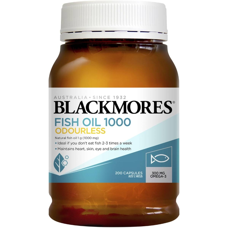 Blackmores Fish Oil Odourless 1000mg 200 pack