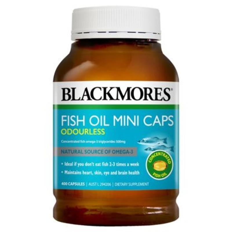 Fish Oil Mini Caps Odourless 400 caps