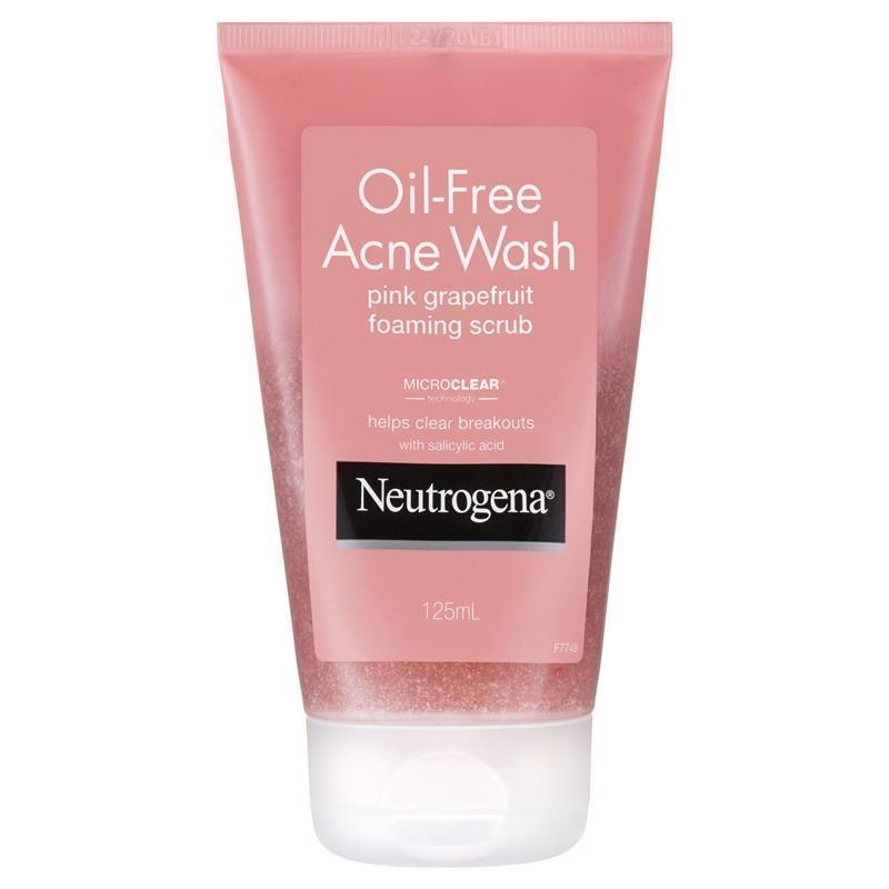 Sữa rửa mặt cho da mụn Neutrogena Oil Free Pink Grapefruit Scrub 125ml