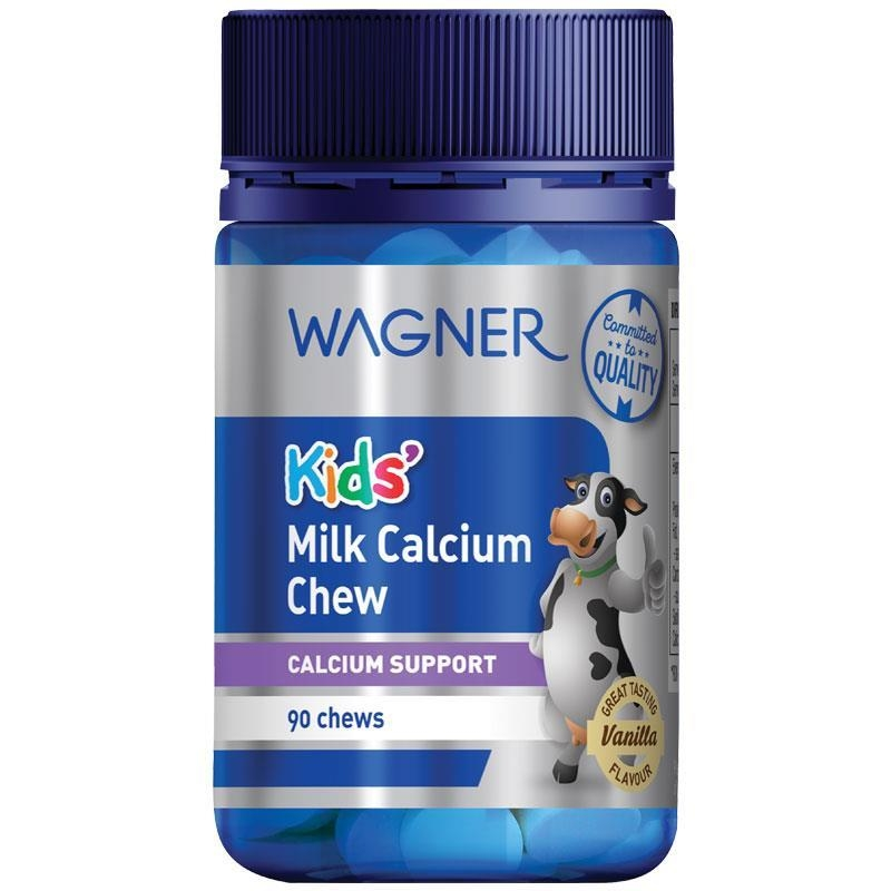 Wagner Kids Milk Calcium Chewable 90 Tablets