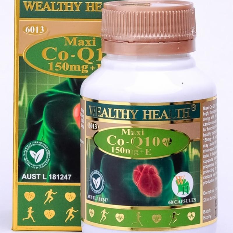 Wealthy Health Maxi Co-Q10 150mg +E