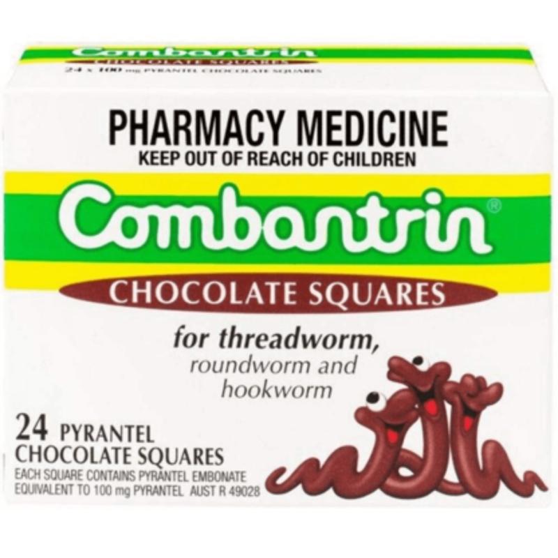 Combantrin Chocolate Squares