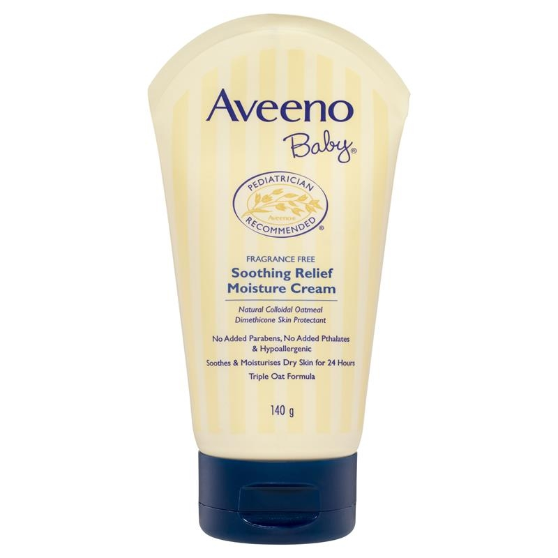 Aveeno Baby Soothing Relief Fragrance Free Moisture Cream 140g