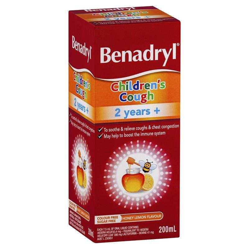 Benadryl Childrens Cough Liquid 200ml