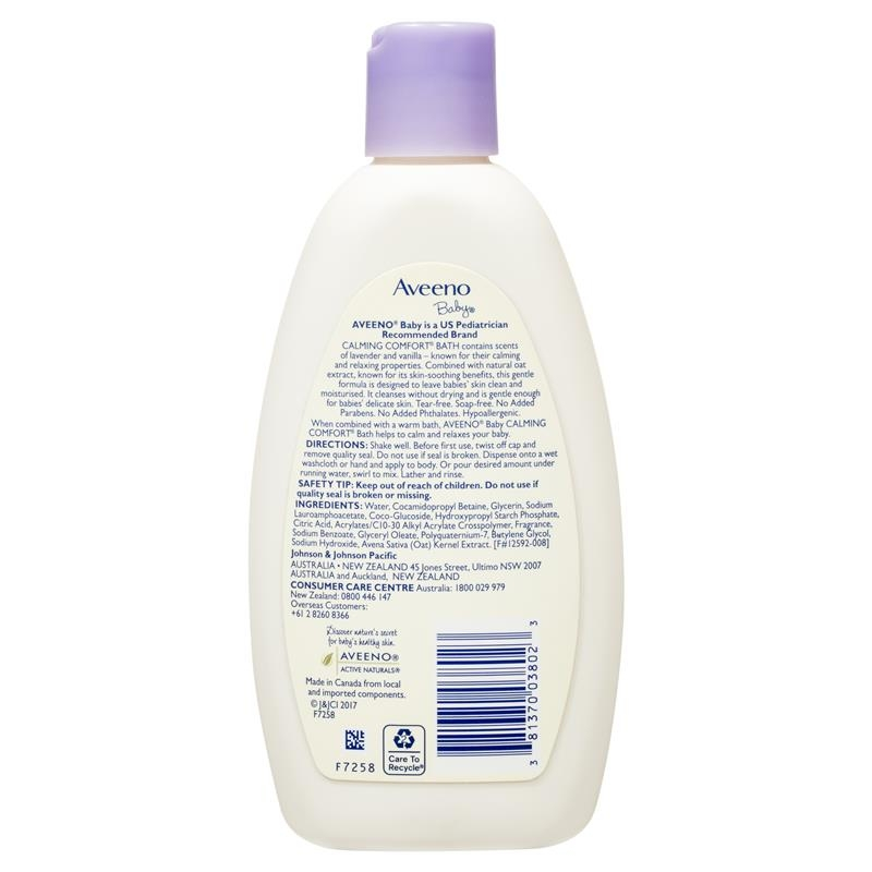 Aveeno Baby Calming Comfort Lavender & Vanilla Scented Bath 236mL