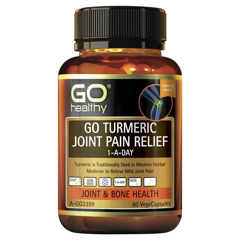 GO Healthy Turmeric Joint Pain Relief 1 A Day 60 Vege Capsules