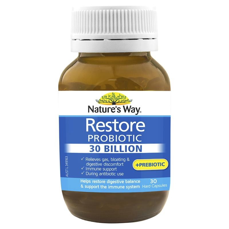 Natures Way Restore Probiotic 30 Billion 30 Capsules