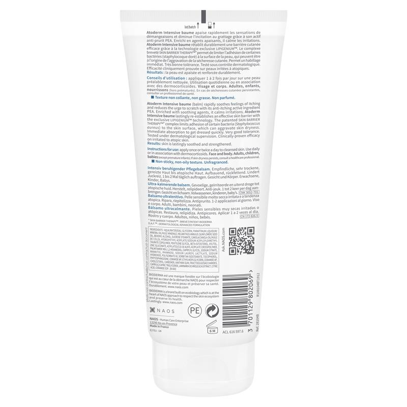 Bioderma Atoderm Intensive Ultra Soothing Balm 200ml Online Only