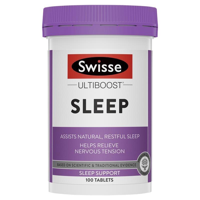 Viên uống hỗ trợ ngủ ngon Swisse Ultiboost Sleep 100 Tablets