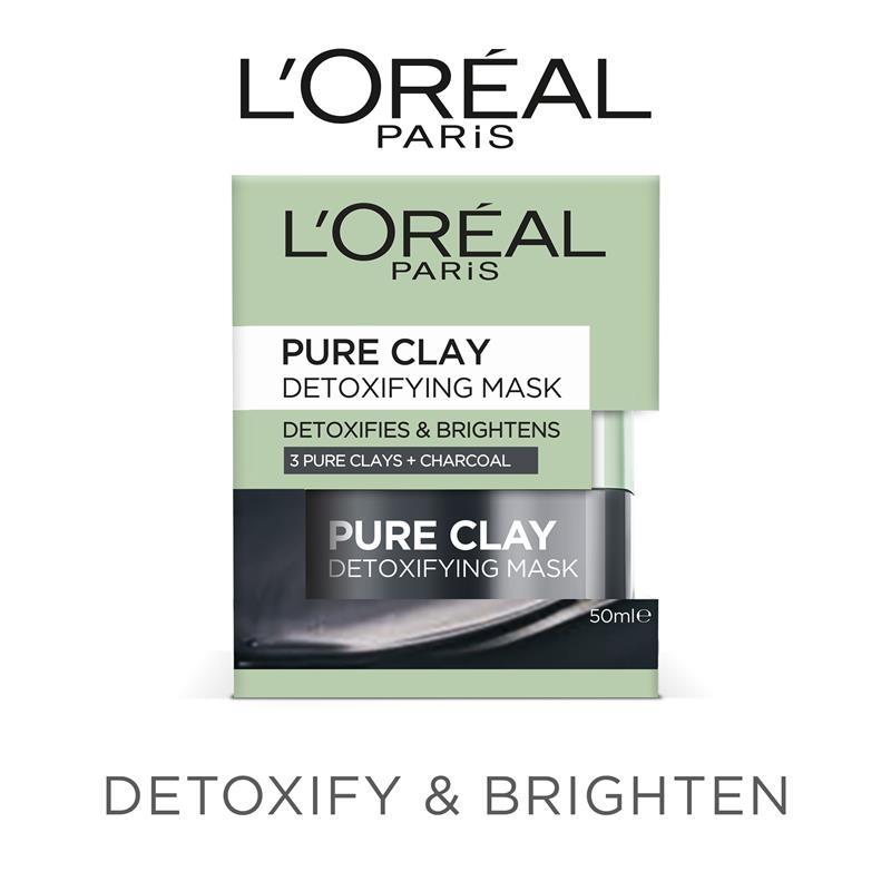 L'Oreal Paris Pure Clay Detoxifying Charcoal Mask 50ml