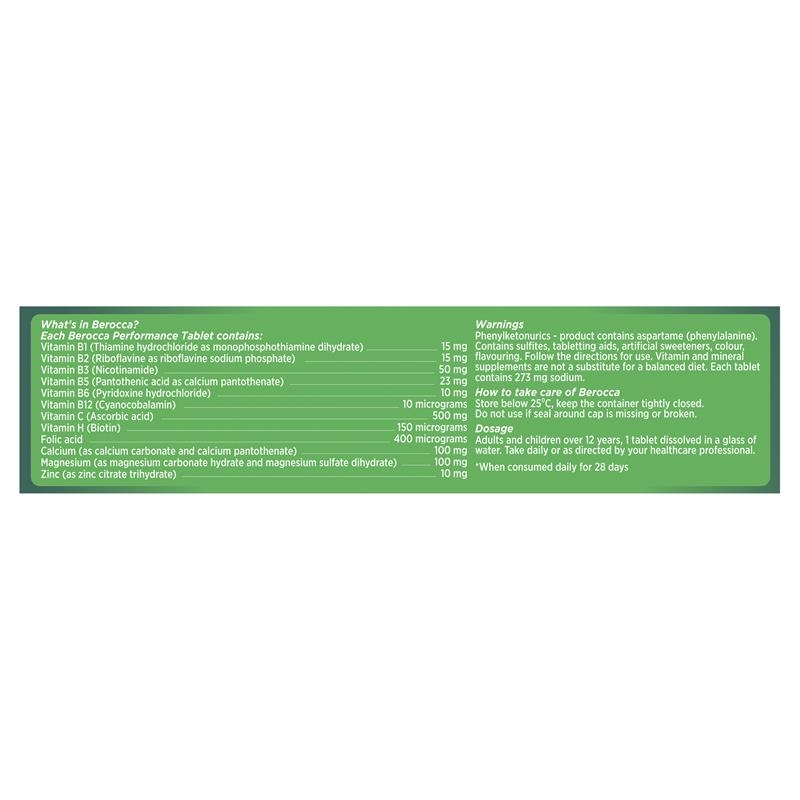 Berocca Energy Vitamin Mango & Orange Effervescent Tablet 30 Pack