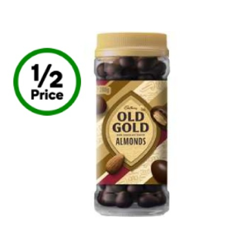 Cadbury Old Gold Dark Chocolate Coated Almonds 280g