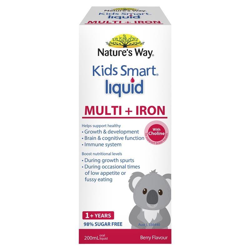 Nature's Way Kids Smart Liquid Multi + Iron 200ml