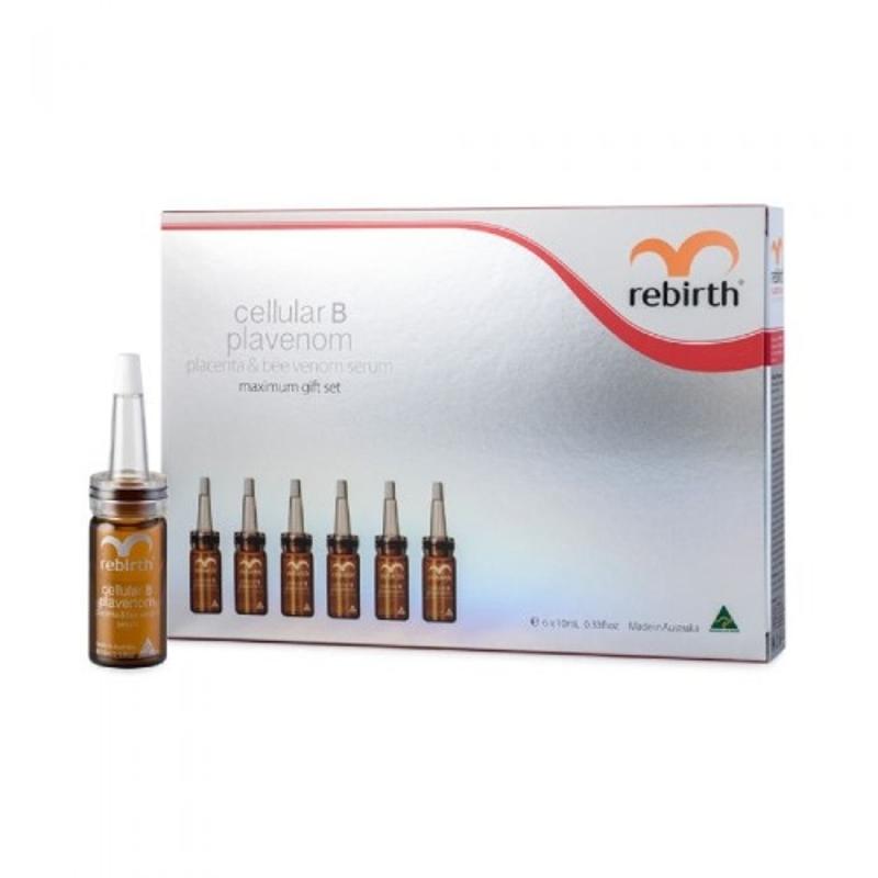 Serum tế bào gốc nhau thai cừu & nọc ong - Rebirth Cellular B Plavenom Gift Set 6x10ml