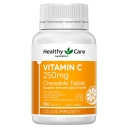 Healthy Care Vitamin C 250mg 150 Chewable Tablets