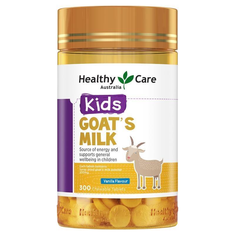 Healthy Care Goat Milk Vanilla Flavour Chewable 300 Tablets