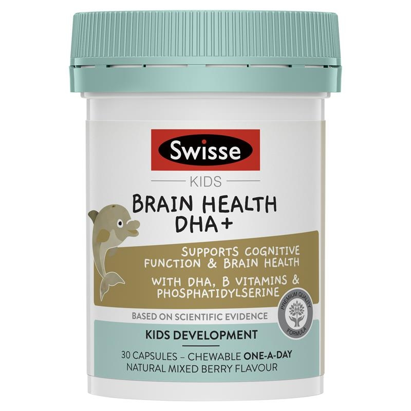 Swisse Kids Brain Health DHA + 30 Capules